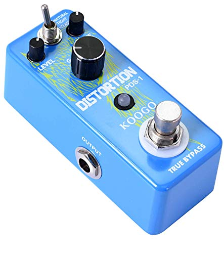 Koogo Guitar Solo Distortion Pedal High Gain Dist-Pedal with Dynamic Response and Definition Keep Particles Smooth