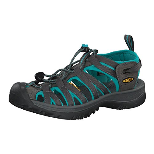 KEEN Women's Whisper Sandal, Dark Shadow/Ceramic,8 M US