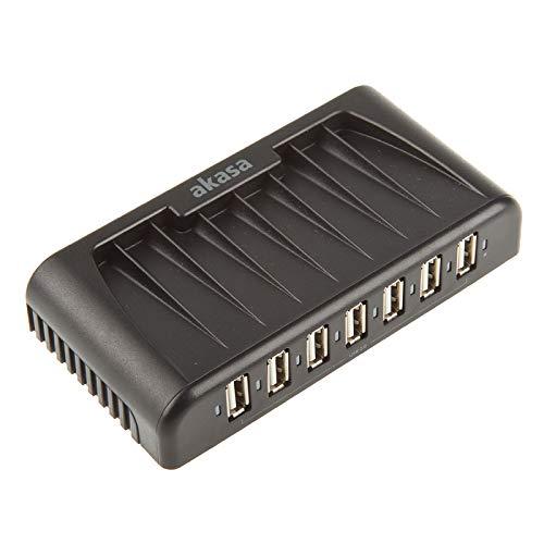 Akasa Connect 7+ 7-Port USB 2.0 extern mit Netzteil schwarz