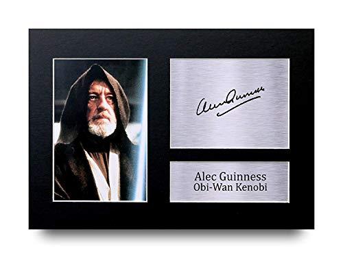 HWC Trading Alec Guinness A4 Sin Marco Regalo De Visualización De Fotos De Impresión De Imagen Impresa Autógrafo Firmado por Star Wars OBI-WAN Kenobi Los Aficionados Al Cine