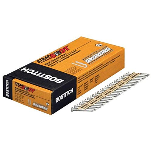 BOSTITCH Metal Connector Nails, Galvanized, Paper Tape Collated, 500-Pack (PT-MC14815G.5M)