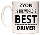 ZYON Is The World's BEST Driver Tazza di WeDoMugs®