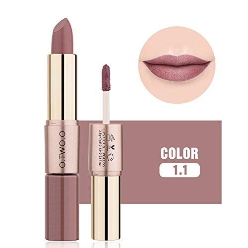 ROPALIA Neueste 2 in1 Matte Lippenstift & Lipgloss Wasserdichte langlebige Flüssigkeit Lippenstift...