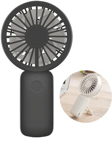 リズム(RHYTHM) 携帯扇風機 【2021モデル】 弱でも涼しい 静音 DCモーター 2重反転ファン USB 充電式 小型 強力 グレー 16.2x8.5x3.9cm 9ZF031RH04