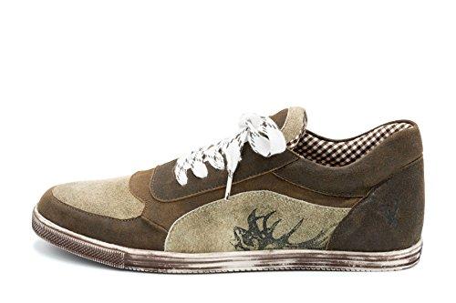 Spieth & Wensky Herren Sneaker Imanuel Nappa Chrash braun Russ (46, Braun)