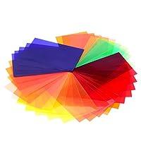 """NEEWERユニバーサル写真スピードライトフラッシュ1.85""""×3.03""""/47x77mm35個正方形のフル・カラーバランスゲルフィルタキット マジックストラップ付き キヤノン、ニコン、ソニー、ペンタックス、オリンパスやその他のフラッシュに対応 【並行輸入品】"""