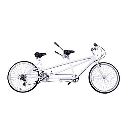 自転車26インチ親子自転車レジャー多人用自転車可変速自転車カップルタンデムトラベル自転車,白