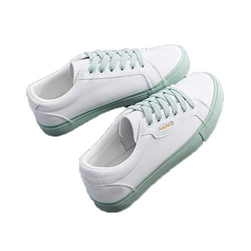 Zapatos Casuales para Mujer Impermeables con Punta Redonda de Cuero con Cordones Zapatillas Planas Ligeras Antideslizantes para Caminar Zapatillas para Correr