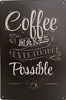 """Erloodコーヒーはすべての可能な金属装飾レトロな壁プラークヴィンテージティンサイン12""""×8""""インチ"""