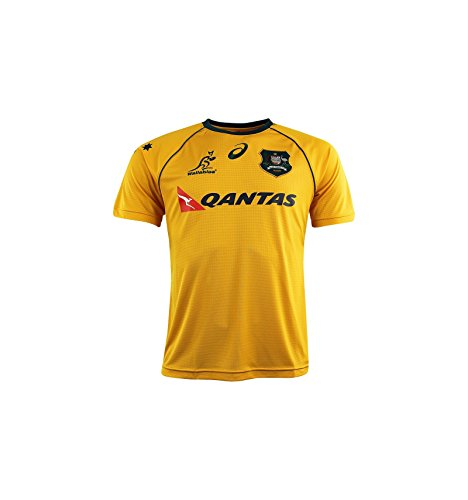2017-2018 Australia Wallabies Home Pro Rugby Shirt, Gold, XL Adults