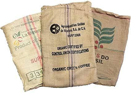 Caffè Manfredo Sacchi di Juta da Caffe\'- 70x100 cm, Confezione da 15 Pezzi