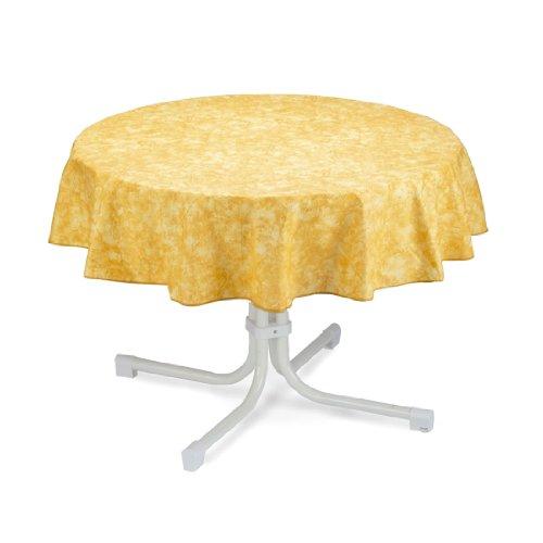 BEST 09810691 Tischdecke rund 130 cm, gelb
