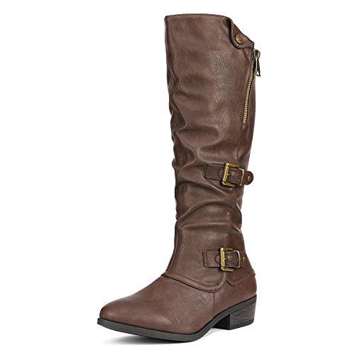 DREAM PAIRS Women's Parkar Brown Winter Knee High Boots Size 5.5 B(M) US