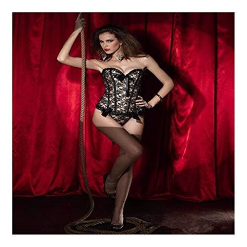 Lenceria sexy Las mujeres encaje sexy encima de Steampunk del cuerpo del cors de escultura Volver vendaje Top Overbust talladora del cuerpo de la cintura de la ropa interior vestido gtico Dominatrix