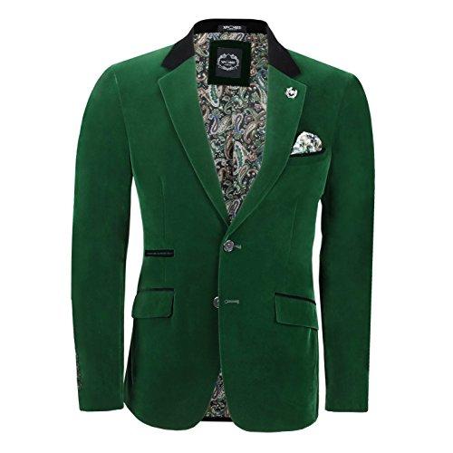 Xposed - Chaqueta de traje - para hombre verde verde Pecho 46