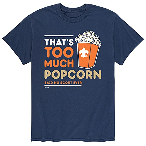Boy Scouts of America Thats Too Much Popcorn - Men's Short Sleeve Graphic T-Shirt Navy
