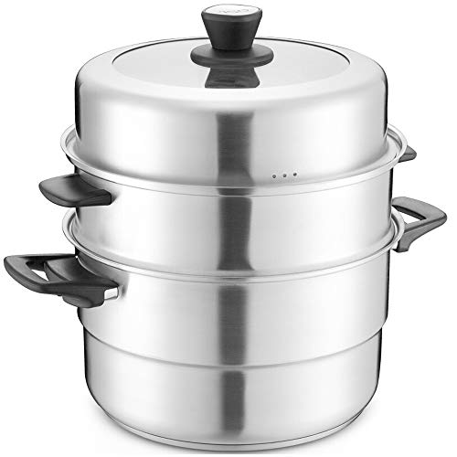 Fantastic Prices! XF Steamers Steamer Pot 304 Stainless Steel Three-layer Steamer Complex Multi-purp...