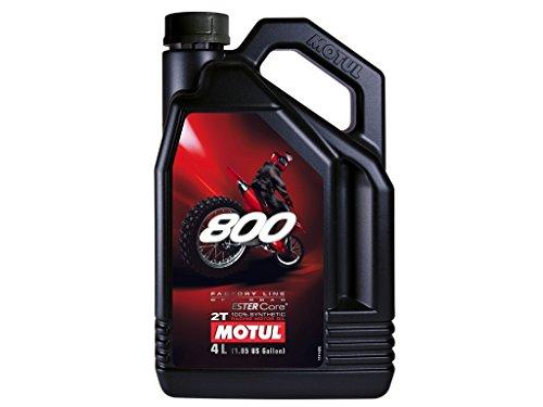 Motul 800 2T Factory Line Off Road Aceite para motor, 4 litros