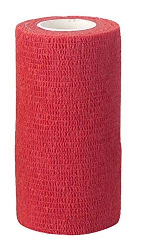 EquiLastic selbsthaftende Bandage, rot, 10cm breit 12 Stk. Pk.