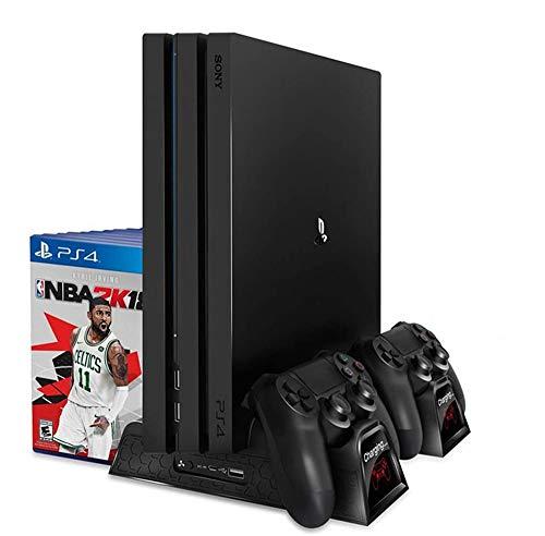 PS4 / PS4 Delgado / PS4 Consola Vertical Pro Refrigeración del Cargador...
