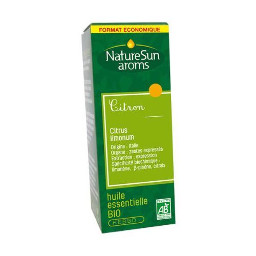 Naturesun aroms - Huile essentielle citron bio - 30 ml huile essentielle citrus limonum