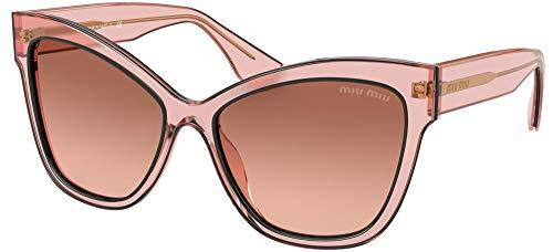 Occhiali da Sole Miu Miu LA MONDAINE SMU 08V PINK/BROWN PINK SHADED 56/16/145 donna