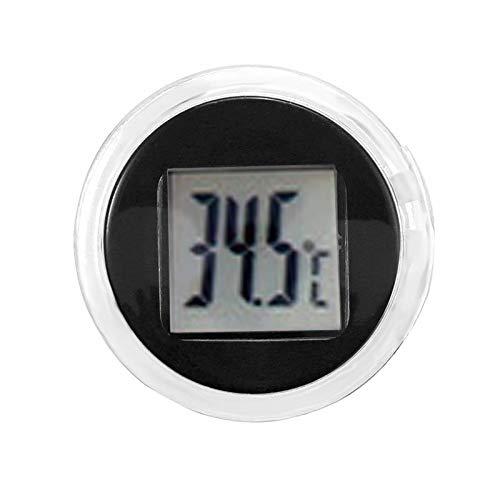KUNSE Mini Digital Thermometer Celsius Wasserdicht Stick-On Motorrad Mount Digital Thermometer-Schwarz