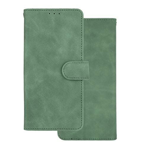 GOKEN Leder Folio Hülle für Oppo A74 5G / Oppo A54 5G, Lederhülle Brieftasche Mit Kartensteckplätzen, Premium Flip PU/TPU Handyhülle Schutzhülle Hülle Cover mit Ständer Funktion (Grün)