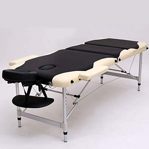 RTYUIO Cama de Masaje Plegable, Cama de Belleza para Tatuajes, Cuidado, Cama de Belleza para el Cuerpo, con 3 pies de aleación de Aluminio Plegables, Mesa de Masaje (Color: B)