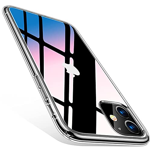 TORRAS Diamond Clear iPhone 11 Case, [Non-Yellowing] [Military Drop Protective] Shock-Absorbing Shockproof Hard PC Back + Soft Silicone Bumper, Ultra Slim Thin iPhone 11 Case, Clear