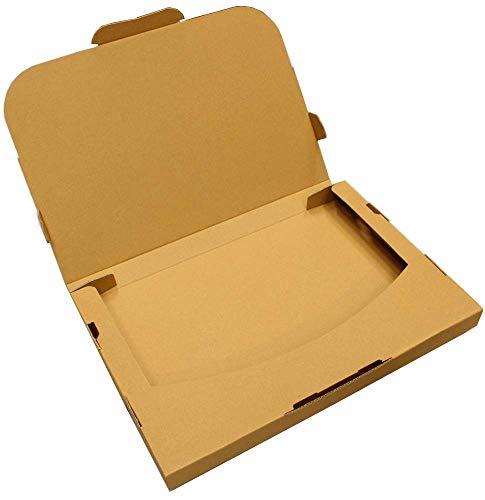 愛パック ダンボール ゆうパケット クリックポスト 3cm 対応 A4サイズ 段ボール 100枚 日本製 無地 薄型素材 (330×230×28mm) yup01-100