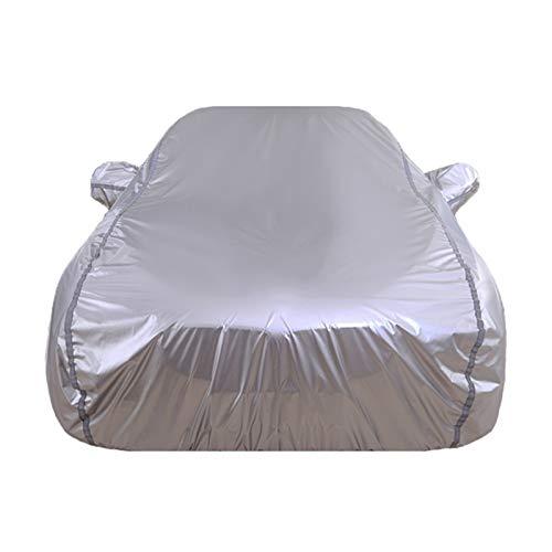 Cubierta de automóvil Compatible con Peugeot RCZ 408 508 206 207 307 407 607 Impermeable A prueba de viento Rayas reflectantes resistentes a la resistencia al aire libre de las rayas al aire libre