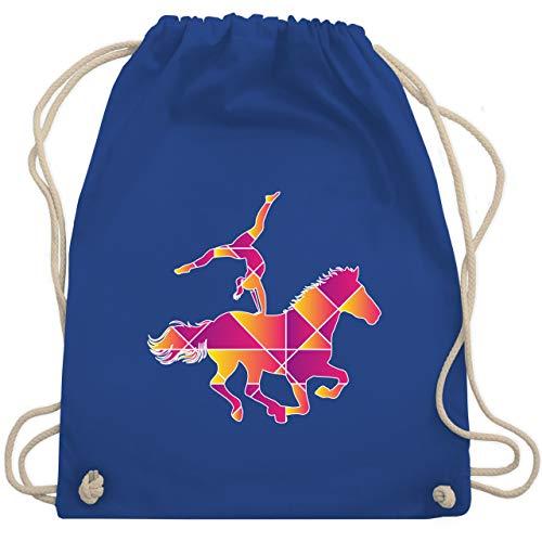 Shirtracer Pferde Geschenk und Reiten Zubehör - Voltigieren - bunt - Unisize - Royalblau - turnbeutel schwarz voltigieren - WM110 - Turnbeutel und Stoffbeutel aus Baumwolle