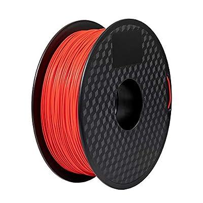 Comgrow 3D Printer PLA Filament 1.75mm 1KG Spool Red
