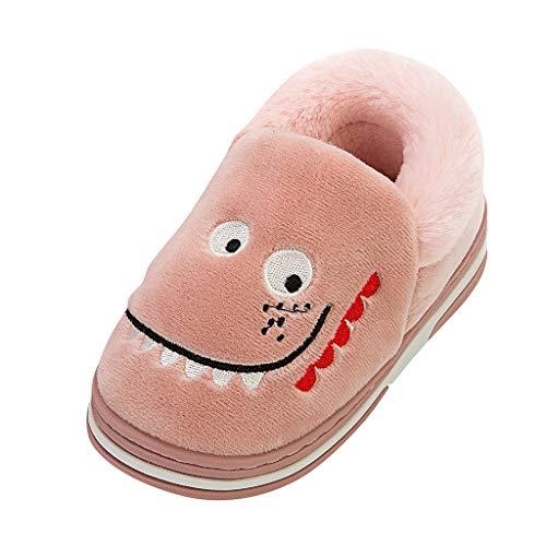 POTOU Unisex-Kinder Kids Hohe Hausschuhe Gemütliche & Warme Pantoffeln für Kinder,Leichter Kinder-Hausschuh