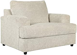 Signature Design by Ashley - Soletren Modern Oversized Chenille Chair, Off-White
