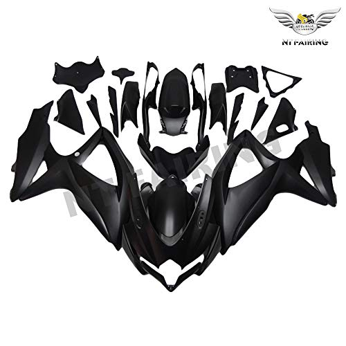 NT FAIRING Matte Black Injection Mold Fairing kits Fit for Suzuki 2008 2009 2010 GSXR 600 750 K8 08 09 10 GSX-R600 Aftermarket Painted ABS Plastic Motorcycle Bodywork