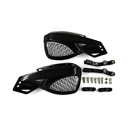 CAIFEIYU Motorcycle Handguard Hand Guard Protector Fit For Kawasaki/Fit For Suzuki/Fit For Yamaha/Fit For SX EXC XCW SMR Moto Dirt Bike ATVS 22mm Handlebar (Color : Black)