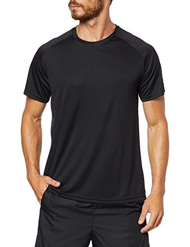 Speedo Raglan Basic Camiseta de Manga Curta, Homens, Preto, G