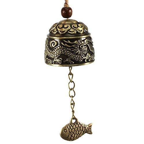 BonTime Vent Carillon Chinois Traditionnel Vintage Dragon fengshui Bell Bonne Chance bénir Maison Jardin accrocher Windchime