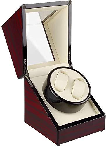 Caja de reloj automático de cuerda de madera caja de almacenamiento de lujo, adecuado para 2...