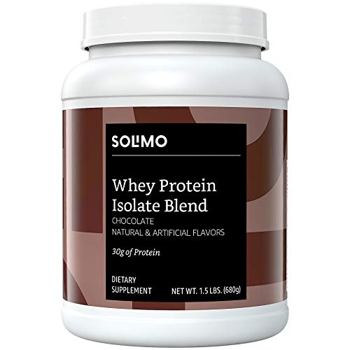 Amazon Brand  Solimo Whey Protein Isolate Blend Chocolate 15 Pound 18 Servings