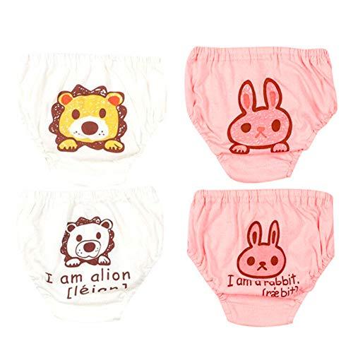 G-Kids 4 Pack Baby Unterwäsche Unterhose Slip Niedlich Cartoon Baumwolle Unterwäsche Shorts für Kinder Mädchen 100