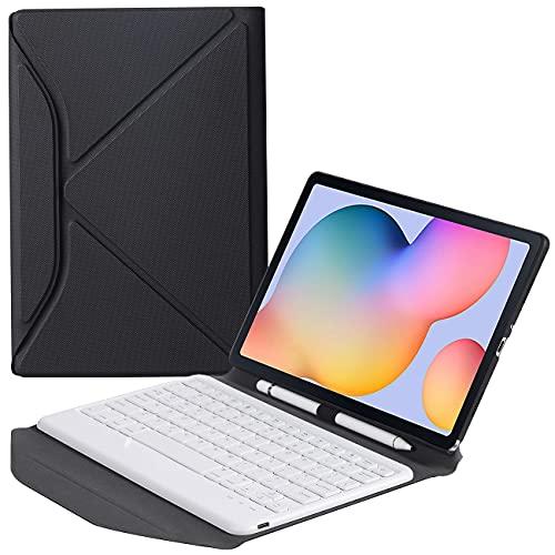 ZOMUN Funda protectora plegable estilo Origami con soporte S-Pen extraíble teclado Bluetooth para Samsung Galaxy Tab S6 Lite (SM-P610 / SM-P615)