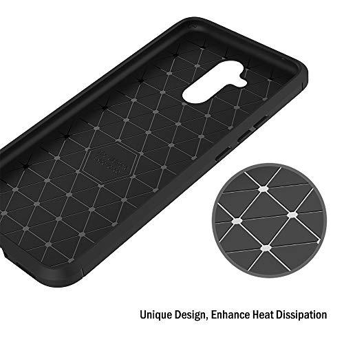 AICEK Hülle Compatible Huawei Mate 20 Lite, Schwarz Silikon Handyhülle für Huawei Mate 20 Lite Schutzhülle Karbon Optik Soft Case (6,3 Zoll) - 6