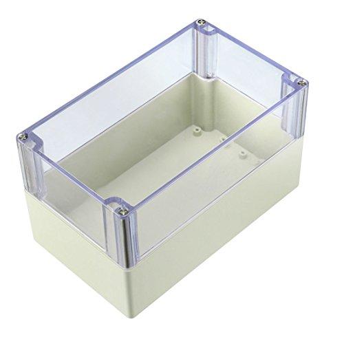 sourcingmap/® caja de empalmes 200 x 120 x 75mm cubierta transparente caja sellada impermeable carcasa