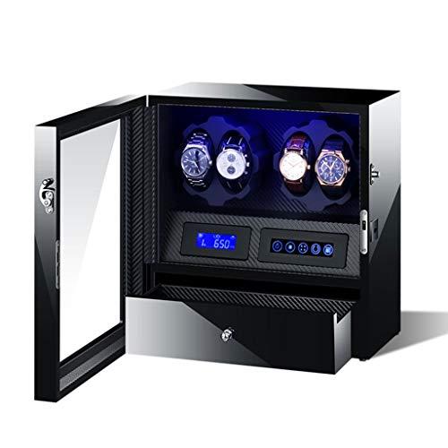 zyy Luxus 4 + 5 - Cargador automático para relojes con LED, control de DPD, cojín suave y motor de silencio, pantalla del reloj (color: B)