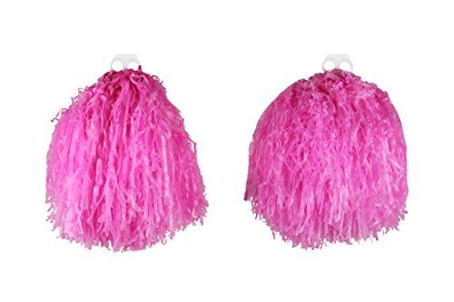 I LOVE FANCY DRESS LTD ROSA Pompoms Tanz PUSCHEL WEDEL ZUBEHÖR FÜR Cheerleader + SPORTVERANSTALLTUNG ODER Fasching UND KARNEVA= 6 Paar (12-STÜCK)