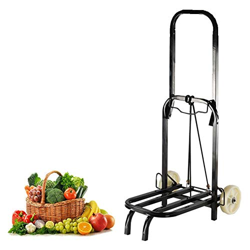 ZYL-YL Folding Hand Truck With Luggage Shopping Trolley,Carts With Extendable,Durable Portable Folding Telescopic Handle Aluminum Alloy Cart