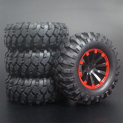 MZWNQ 3 x 1,9 Pulgadas 96mm neumáticos de Goma Llantas de Rueda para D90 D110 SCX10 CC01 para RC Rock Crawler Truck Escalada Coche Todoterreno